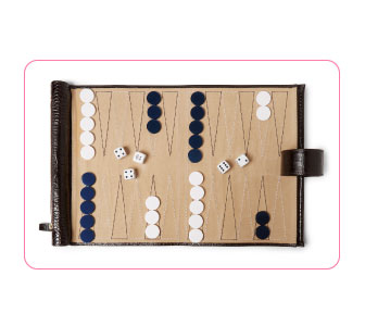 TRAVEL BACKGAMMON, Smythson.