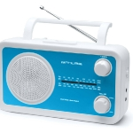 Portable radio. Muse. Analogic tuner FM/WM, works with batteries or electrically.  Also available in pink, orange, blue, white, grey and black. 19,90€ http://www.muse-europe.com