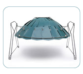 Stainless Steel Solar barbecue. ID Cook.