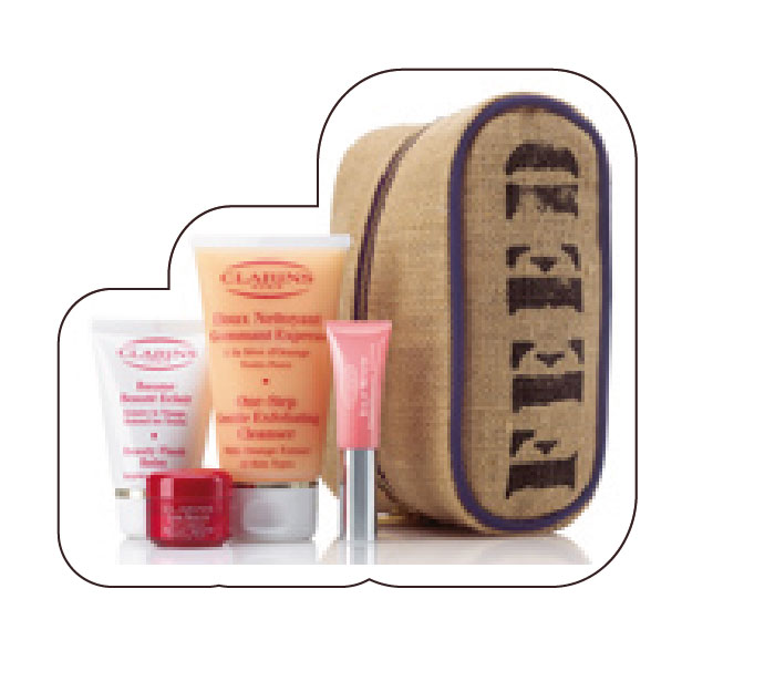 "Travel washbag n°2 ""Feed p4p"" Clarins at Colette"