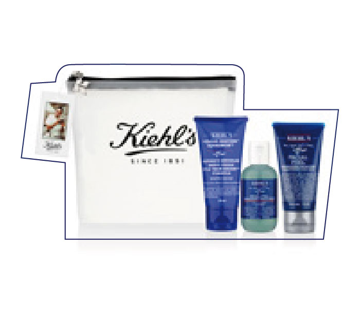 An essential travel kit for men. Khiel's