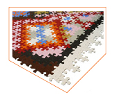 Tapis Puzzle Perse. Katrin Sonnleitner.