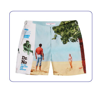 SHORT DE BAIN JAMES BOND 007 CONTRE DR.NO, ORLEBAR BROWN.