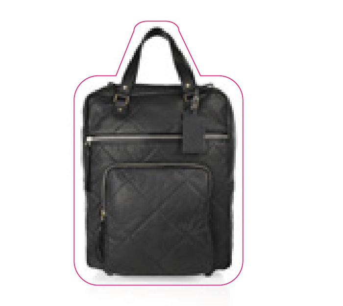 A leather quilted Lanvin cabin bag.