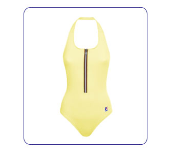 MAILLOT DE BAIN AVEC ZIP ICONIQUE, K-WAY.