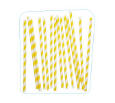 Yellow striped retro straws. My Little Bazaar.