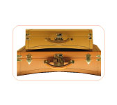 Trunk suitcases by Moynat.