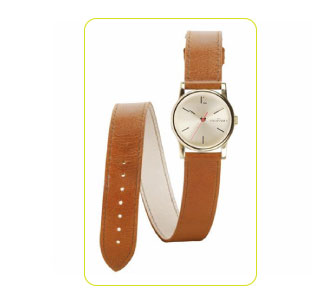 Retro leather watch by Les Partisanes.