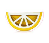 Lemon pouch by Charlotte Olympia.
