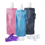 "VAPUR FOLDING BOTTLE. © The ""anti-bottle"" folding bottle. To be filled. $14.99 for a pack of 4 bottles. http://www.amazon.com"