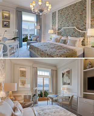 New suites, designed by Pierre-Yves Rochon, at the Beau-Rivage Palace of Lausanne