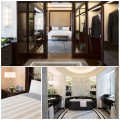 Photo 1: Suite Deluxe, Courtesy L'hôtel Peninsula Paris. Photo 2: Suite Superieure, Courtesy L'hôtel Peninsula Paris. Photo 3: Suite Deluxe Salle de bains, Courtesy L'hôtel Peninsula Paris.