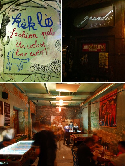 Ruins Bar, Budapest, Photo 1 & 2 © Laurence Gounel. Ruins Bar, Szimpla kert, Budapest, Photo 3, courtesy Incognito CoRP