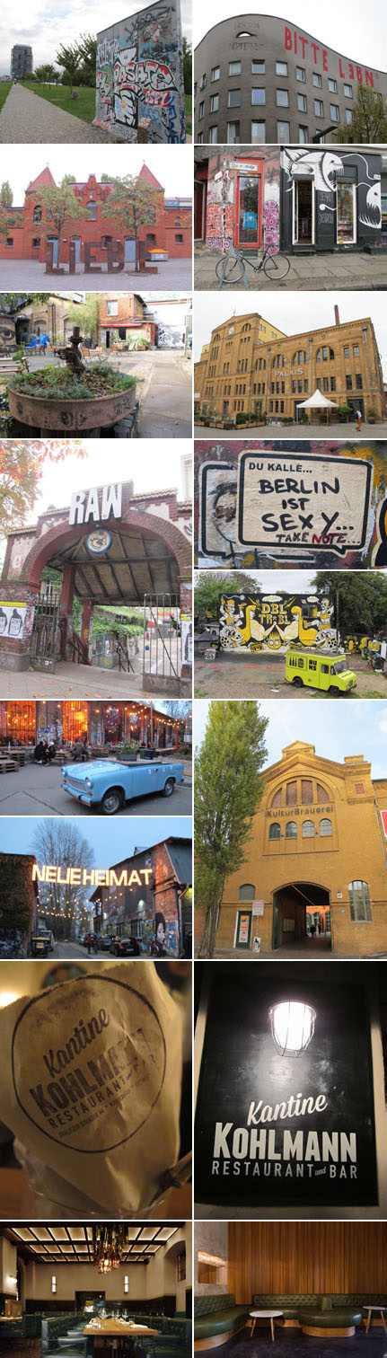 Photo 1, 2, 3, 4, 5, 6, 7, 8, 9, 10, 11 & 12 : Kreuzberg et Friedrichsain Berlin © Ludovic Bischoff. Photo 13, 14, 15 & 16 : Kantine Kohlmann, Courtesy Kantine Kohlmann.