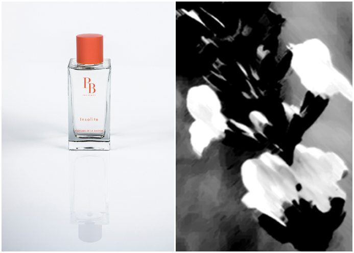 Photo 1 : Insolite, Photo 2 : Insolite Inspiration. © Parfums de Bastide