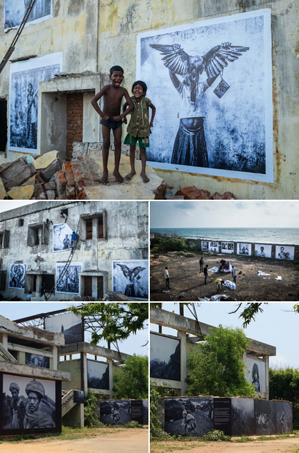 Pondy Art, Tribals of Inde, photo 1, 2 & 3 © Yannick Cormier. Photo 4 & 5 © Clara Le Fort.