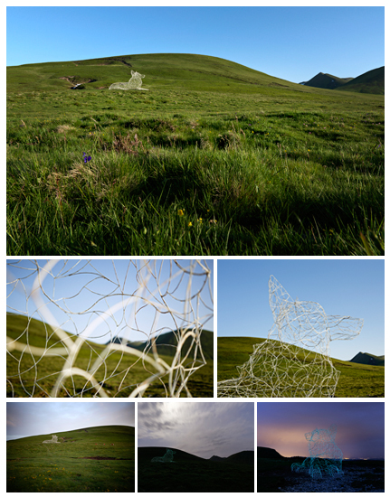 Festival Horizons Arts Nature en Sancy, L'évidence de Thomas Monin, © Ludovic Bischoff