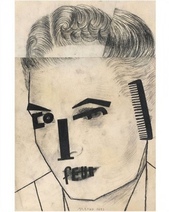 Exhibition «Donation Florence and Daniel Guerlain» at the Centre Pompidou, Paris: Eduardo Arroyo, Coiffeur, 1993 © Centre Pompidou, MNAM-CCI Georges Meguerditchian/Dist.RMG-GP