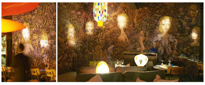Miss Ko restaurant, Avenue Georges V in Paris: designed by Philippe Starck ©MissKo