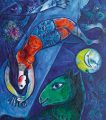 Marc Chagall, Le Cirque bleu. c'est maintenant février 2017 PLUMEVOYAGE @plumevoyagemagazine © SODRAC & ADAGP 2017, Chagall ® © CNAC MNAM Dist. RMN-Grand Palais Art Resource, NY. Photo Gérard Blot