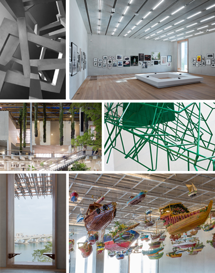 Le tout nouveau Perez Art Museum Miami a ouvert ses portes fin 2013. Photos par Ludovic Bischoff Photo1: Jedd Novatt CHAOS SAS à PAMM Photo par Robin Hill (c) Photo 2: Perez Art Museum Miami, Iwan Baan Photo 3 : Façade nord de PAMM, Iwan Baan. Photo 4 : Monika Sosnowska, market detail, 2013 at PAMM Photo 5: PAMM, window seating. Iwan Baan Photo 6: PAMM, façade sud. Iwan Baan.