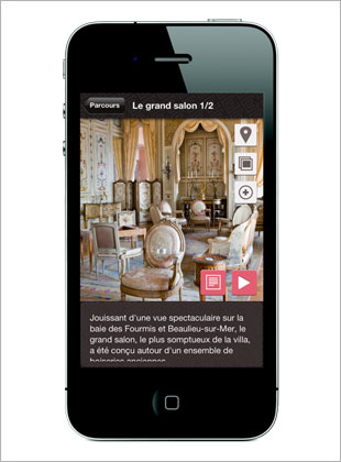 La Villa Ephrussi de Rothschild lance son application pour iPhone et iPad.