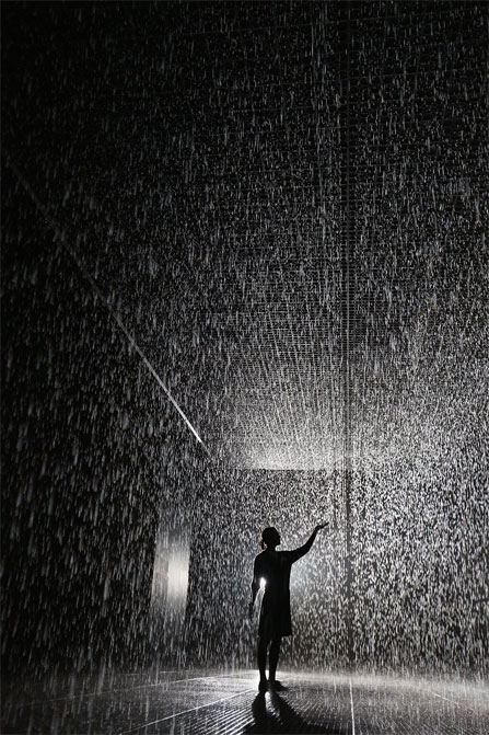 Rain Room @ Barbican Centre in London