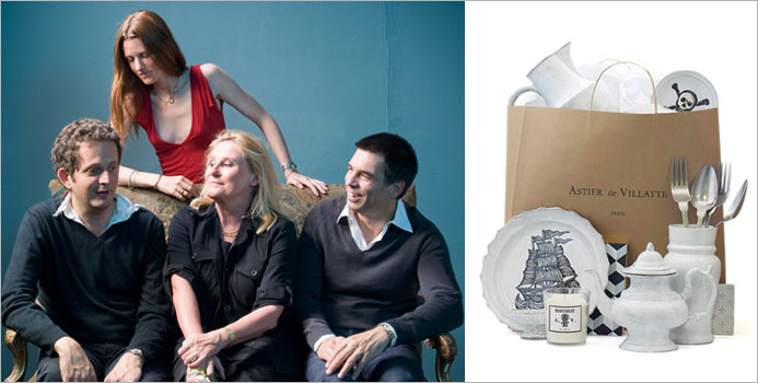 The Astier de Villatte team/ in the shopping bag, choice of Astier de Villatte novelties.