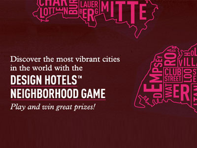 Design Hotels lance le Neighborhood Game