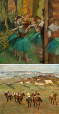 1-Degas - Danseuses vers 1890 © The Metropolitan Museum of Art, New York / 2-Chevaux de courses 1884 © Detroit Institute of Arts Bridgeman
