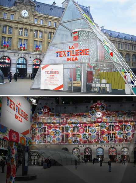 « The Ikea Textilerie » at Gare Saint-Lazare