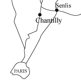 Carte Senlis Chantilly