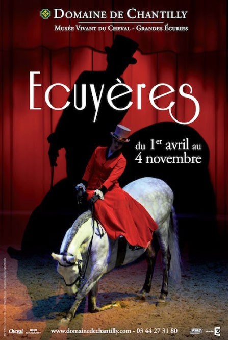 """Ecuyères"" at the Musée Vivant du Cheval in Chantilly"