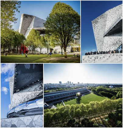 Philharmonie of Paris exterior views.-A Break at the Philharmonie december 2015 PLUME VOYAGE @plumevoyagemagazine © W Beaucardet