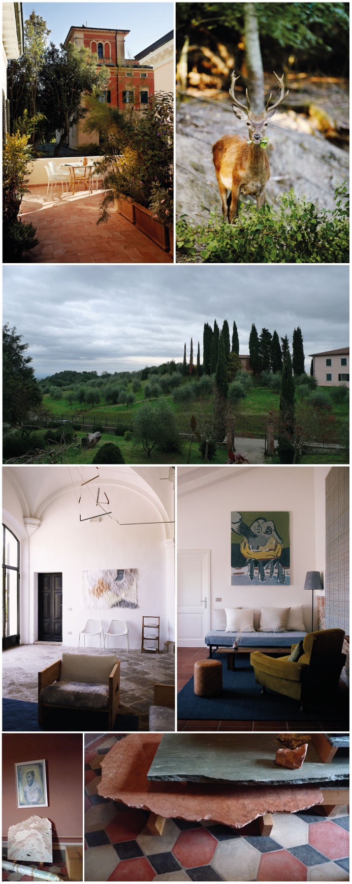 An artist's retreat. Photo 1, 2, 4 & 5 © Villa Lena, by Kuoni. Photo 3, 6 & 7 © Plume. Courtesy of Villa Lena
