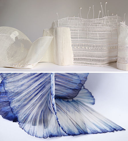 « Architecture textile » à la Nef, Montpellier Photo 1 : Francoise Wintz - Photo 2: Ysa de Maisoneuve © Marie Noelle Robert