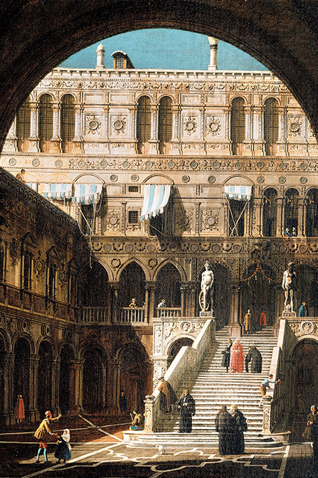 Canaletto, Venise, le Palais des Doges et l'escalier des Géants © Private collection