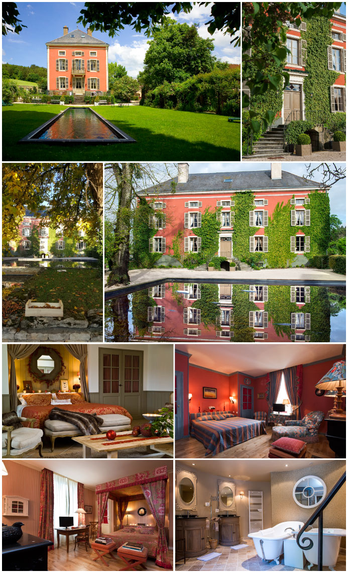 Outside views and rooms of the Château de Courban © DR @Plume Voyage Magazine
