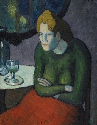 Pablo Picasso, The Absinthe Drinker © 2015 Estate of Pablo Picasso / Artists Rights Society (ARS), New York @Plume Voyage Magazine