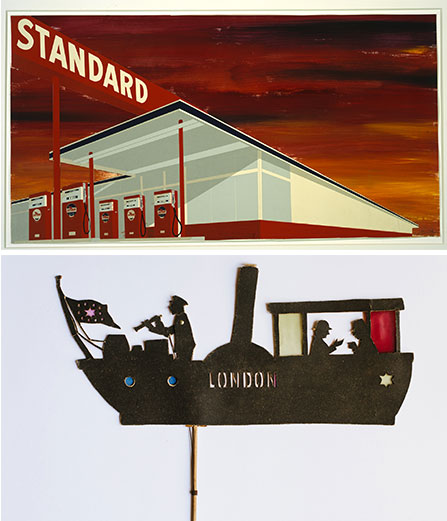 Ed Ruscha, Standard Station Study Courtesy of the artist / Carl Abel Klinger Silhouette for Klinger shadow theatre, Collezione Museo Nazionale del Cinema, Torino@Plume Voyage Magazine