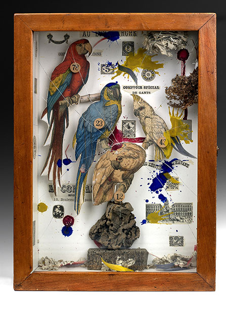 Joseph Cornell, Habitat Group for a Shooting Gallery_Collection of the Des Moines Art Center, Photo Rich Sanders © The Joseph and Robert Cornell Memorial Foundation_Bildrecht Wien @Plume Voyage Magazine