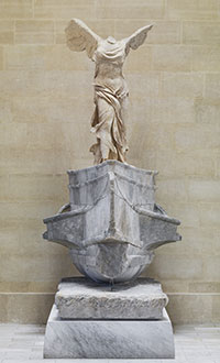 """The Winged Victory of Samothrace: rediscover a masterpiece"" at the Musée du Louvre, Paris. Victoire de Samothrace © musée du Louvre, Philippe Fuzeau. Courtesy of Musée du Louvre"