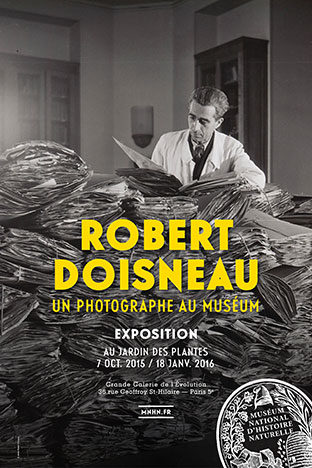 """Robert Doisneau, a photographer at the museum"" at the Great Gallery of Evolution, Paris © DR @Plume Voyage Magazine"