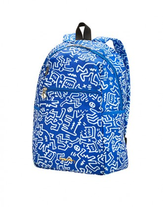 Keith Haring Foldaway Backpack © DR @Plume Voyage Magazine