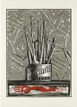 """The Unknown"" at the Eden Rock Gallery, St Barts. Jasper Johns. Courtesy of Eden Rock Hotel"