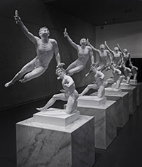 Xu Zhen, Eternity – The Soldier of Marathon Announcing Victory, A Wounded Galatian, 2014 Courtesy of the artist and MadeIn Company Photo: Thomas Fuesser