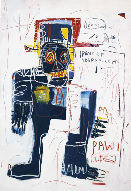 Basquiat Ironie d'un policier noir Collection particulière © Estate of Jean-Michel Basquiat_Licensed byt Artestar NY