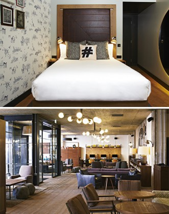 London: the chic and cosy Hoxton hotel! Courtesy of The Hoxton