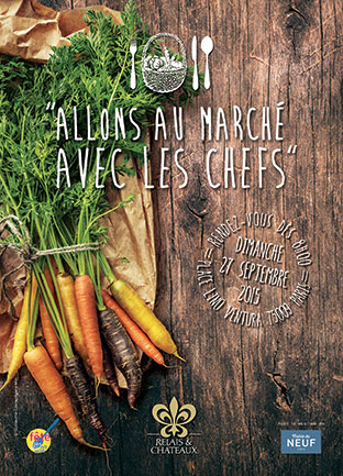 Go to the market with the Relais & Châteaux chefs © DR
