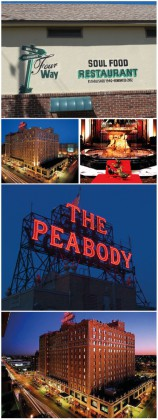 Where to eat and sleep in Memphis. Restaurants and Hotels © Ludovic Bischoff